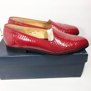 Giorgio Brutini Red Snakeskin Slip-On Shoes US 14M